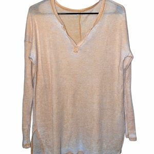 American Eagle Outfitters Long Sleeve Peach Top